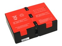 ABC RBC124 UPS battery (equivalent to: APC RBC124) 2 x lead acid 9 Ah