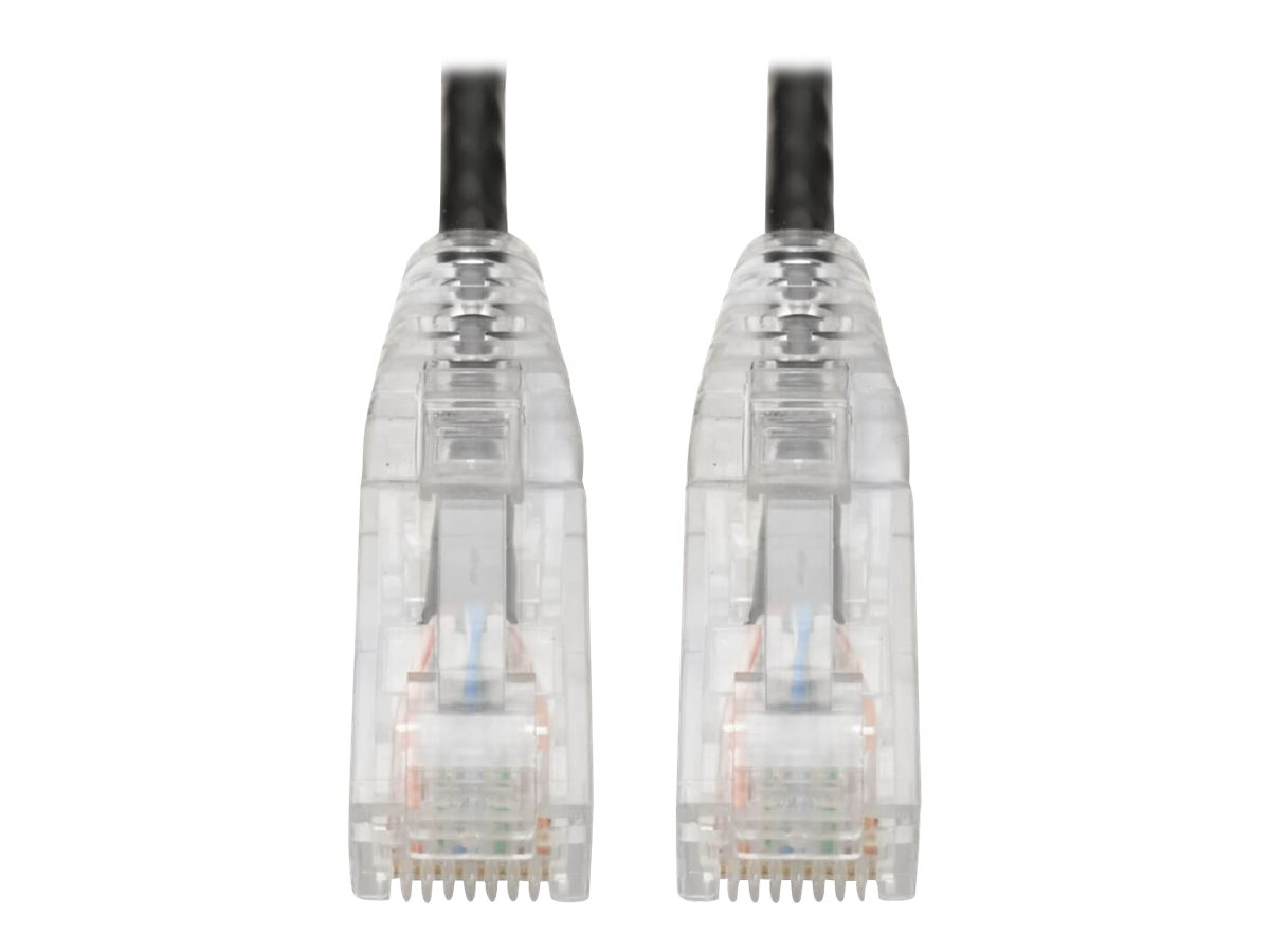 Tripp Lite Cat6 UTP Patch Cable (RJ45) - M/M, Gigabit, Snagless, Molded, Slim, Black, 1 ft. - patch cable - 30.5 cm - b…