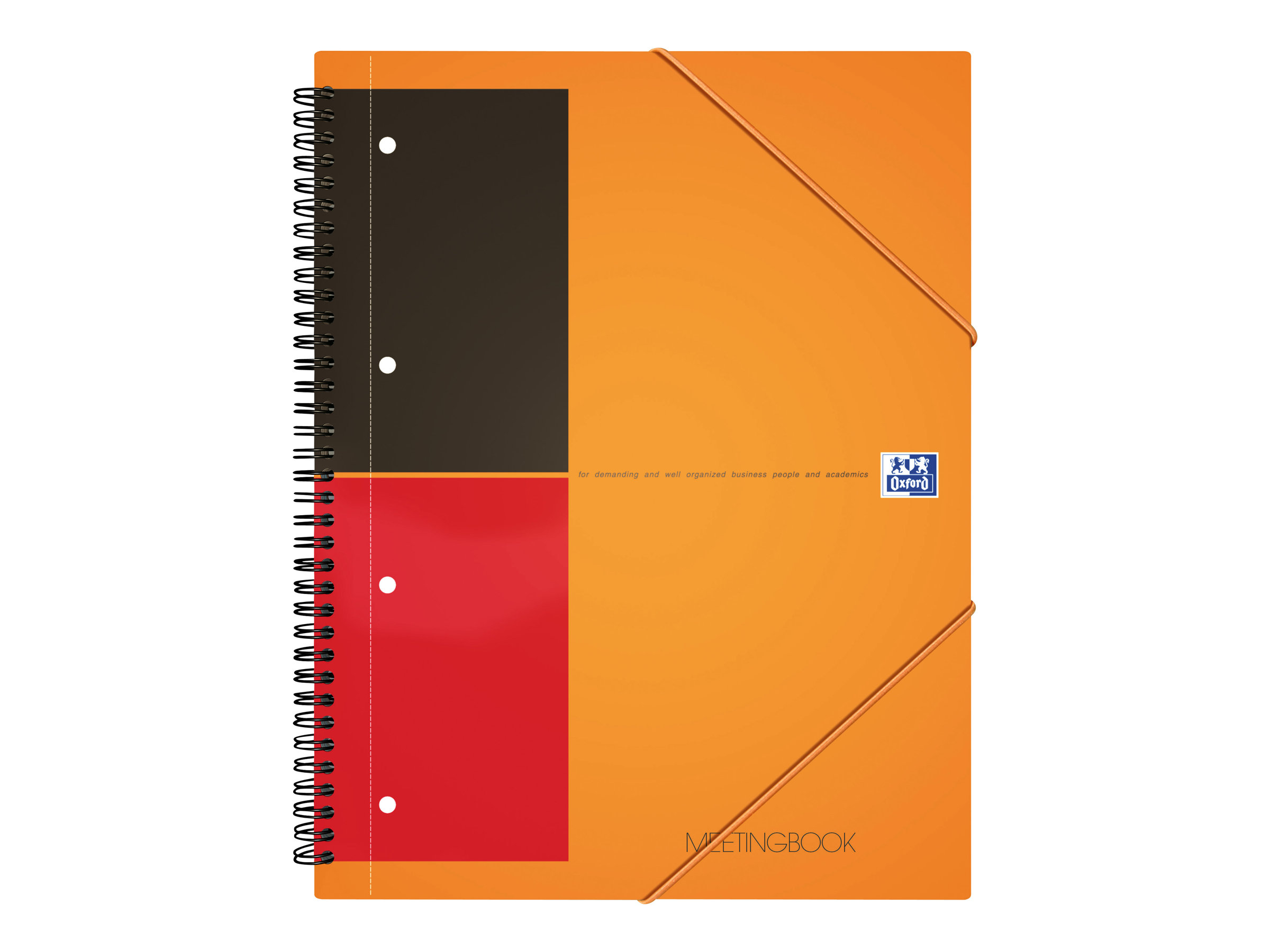 Cahiers professionnels Oxford International Meetingbook A4+ - Cahier - 160 pages - papier blanc - règle - perforé