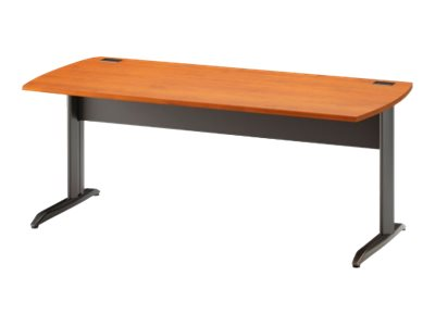 JAZZ - Table bureau - 120 cm - Pieds metal - Finition aulne