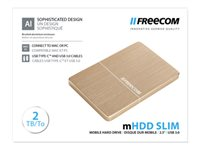 "Freecom mHDD Slim - Disque dur - 2 To - externe (portable) - 2.5"" - USB 3.0 - 5400 tours/min - or"