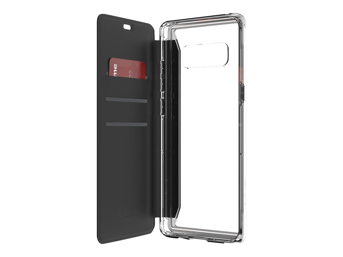 Griffin Survivor Clear Wallet - flip cover for cell phone