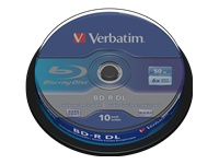 Verbatim - 10 x BD-R DL - 50 GB 6x - spindle