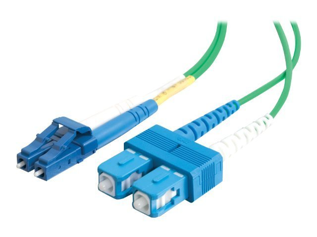 C2G 1m LC-SC 9/125 Duplex Single Mode OS2 Fiber Cable - Green - 3ft - patch cable - 1 m - green