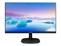 "Philips V-line 273V7QDSB - Écran LED - 27"" - 1920 x 1080 Full HD (1080p) - IPS - 250 cd/m² - 1000:1 - 5 ms - HDMI, DVI-D, VGA - noir texturé"