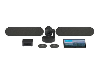Logitech Tap Room for Microsoft Teams Rooms Large - video conferencing kit  - with Intel NUC (i5-8259U, 8GB RAM, 240GB SSD), Logitech JumpStart (90