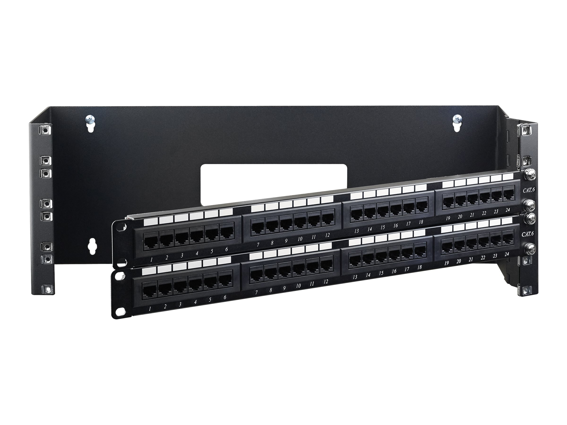 """StarTech.com 4U Hinged Wall Mount Patch Panel Bracket - 6 inch Deep - 19"""" Patch Panel Swing Rack for Shallow Network Eq…"""