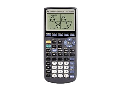 Texas Instruments TI-83 Plus Graphing calculator 10 digits + 2 exponents