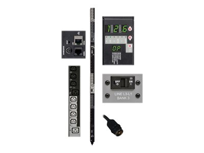 Tripp Lite PDU 3-Phase Switched 208V 12.6kW Hubbell 24 C13; 6 C19 0URM TAA
