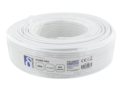 Speaker cable, 2x1,50 mm2, conductors of pure copper, rolls. 50m White