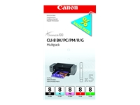 Picture of Canon CLI Value Pack 8 Multipack - black, cyan, magenta, red, green - original - ink tank (0620B027)