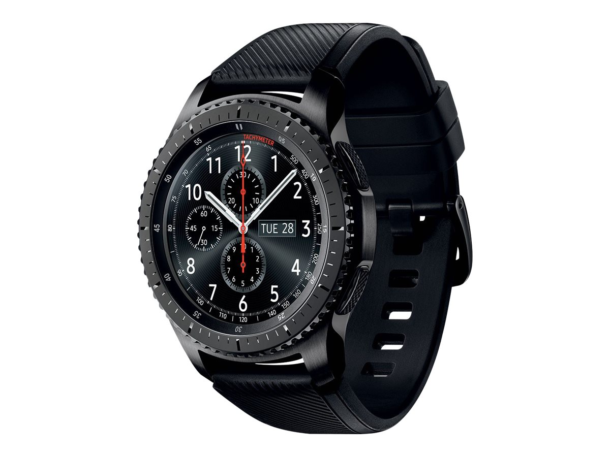 Samsung Gear S3 Frontier - black - smart watch with band - black - 4 GB