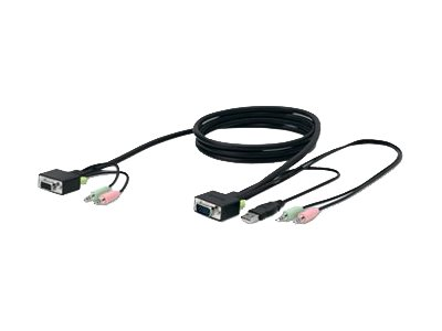 Belkin SOHO KVM Replacement Cable Kit - keyboard / video / mouse / audio cable - 6 ft - B2B