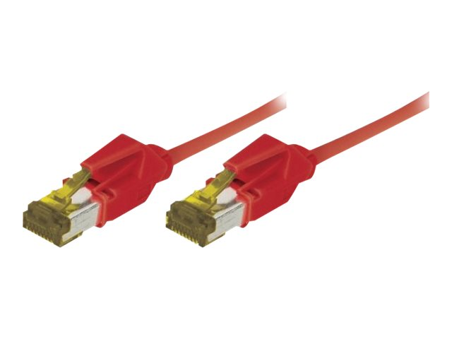 Cordon Patch Rj45 S/Ftp Cat 6A Lsoh Snagless Rouge - 3 M