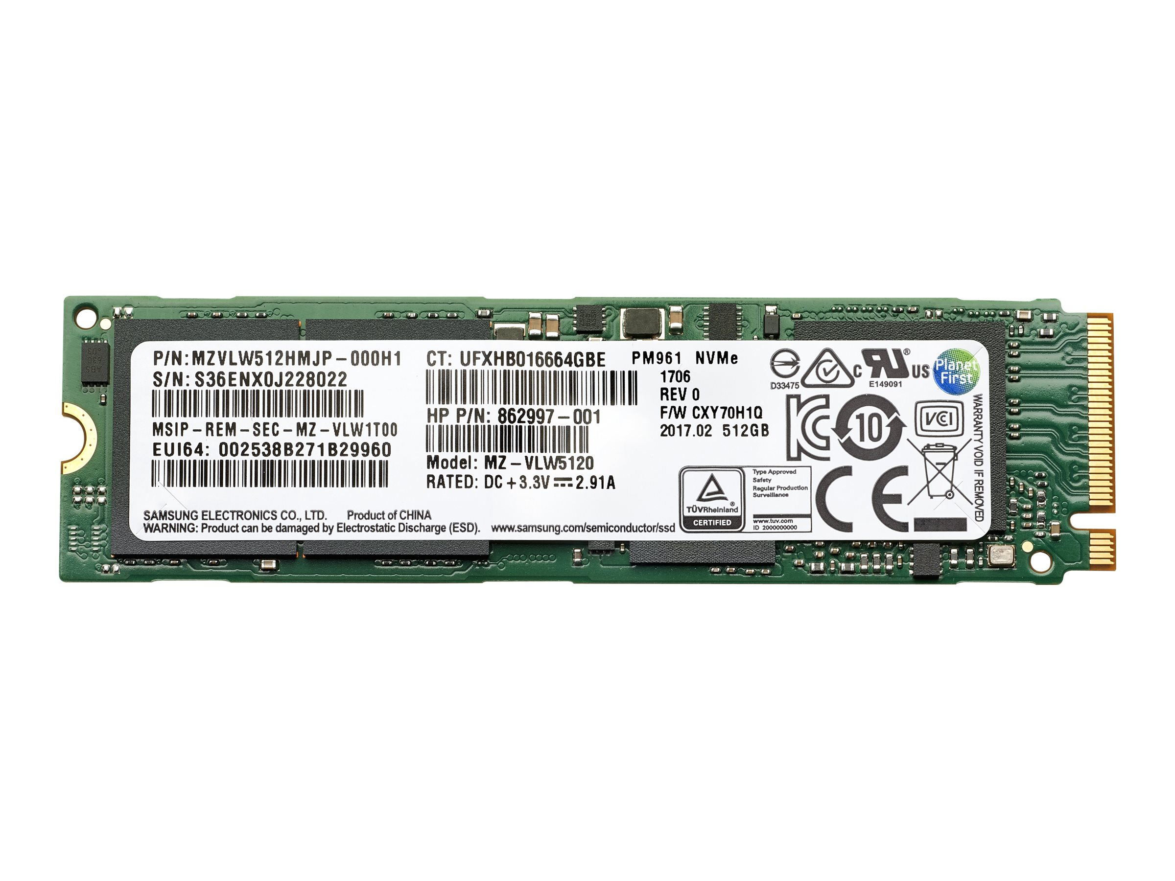HP - solid state drive - 1 TB - PCI Express 3.0 x4 (NVMe) -