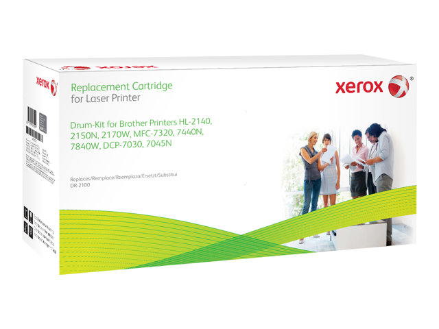 Xerox Brother HL-2140/HL-2150N/HL-2170W - Noir - kit tambour (alternative pour: Brother DR2100) - pour Brother DCP-7030, 7040, 7045, HL-2140, 2150, 2170, MFC-7320, 7440, 7840; Justio DCP-7040