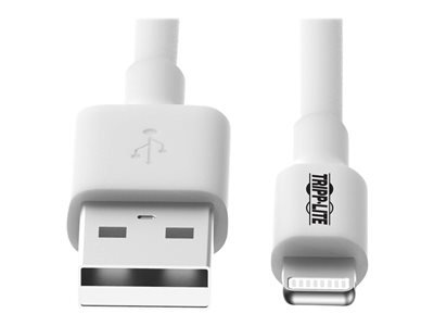Tripp Lite 3ft Lightning USB Sync/Charge Cable for Apple Iphone / Ipad White 3' - data / power cable - 3.3 ft