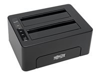 Tripp Lite USB 3.0 SuperSpeed to Dual SATA External Hard Drive Docking Station w/ Cloning 2.5in and 3.5in HDD - Hard drive duplicator - 2 bays (SATA)