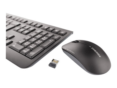 CHERRY DW 3000 Keyboard and mouse set wireless RF, 2.4 GHz French AZERTY black