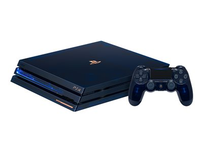 Sony PlayStation 4 Pro - 500 Million Limited Edition - game console - 4K - HDR - 2 TB HDD - translucent blue - with PlayStation Camera