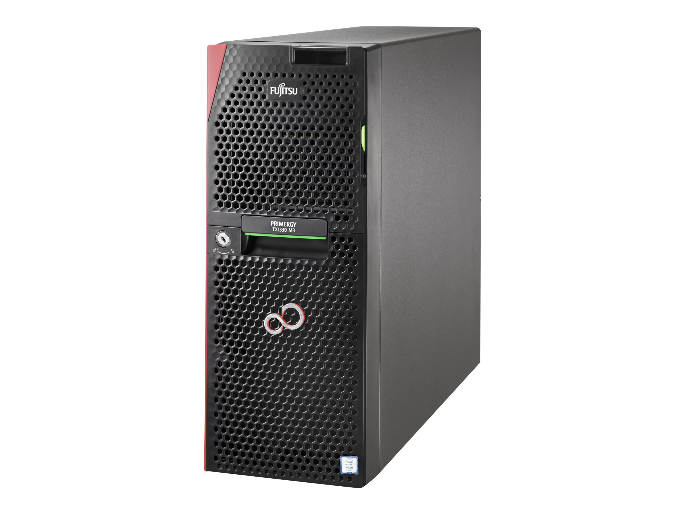 Fujitsu PRIMERGY TX1330 M3 - Server - Tower - 1-Weg - 1 x Xeon E3-1220V6 / 3 GHz - RAM 8 GB
