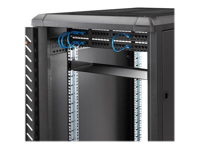 StarTech.com Server Rack Shelf - 1U - 7in Depth Fixed Mount - 33lbs / 15kg