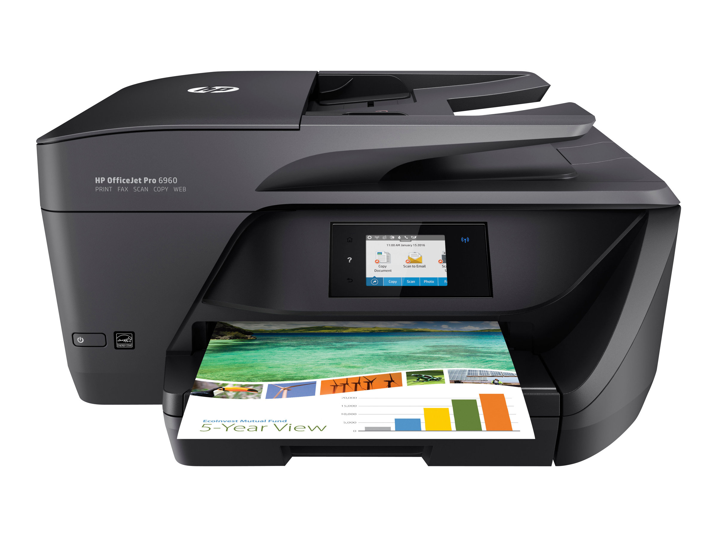 Imprimante HP Color Officejet Pro 6960 All-in-One vue avant