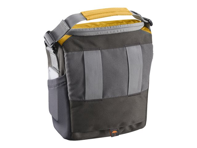 mantona Elements Outdoor - Rucksack für Digitalkameras mit Objektiven / Drohne - Nylon - Grau, orange