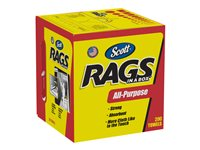 Scott Rags in a Box Cleaning wipes 200 sheets white pack of 8