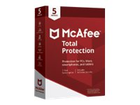 McAfee Total Protection Box pack (1 year) 5 devices Win, Mac, Android, iOS English