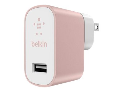 Belkin MIXIT Metallic Home Charger Power adapter 2.4 A (USB) rose gold