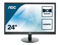 AOC Value M2470SWH 23.6' 1920 x 1080 VGA (HD-15) HDMI 60Hz