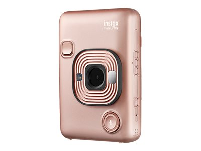 Fujifilm Instax Mini LiPlay Digital camera compact with photo printer blush gold image