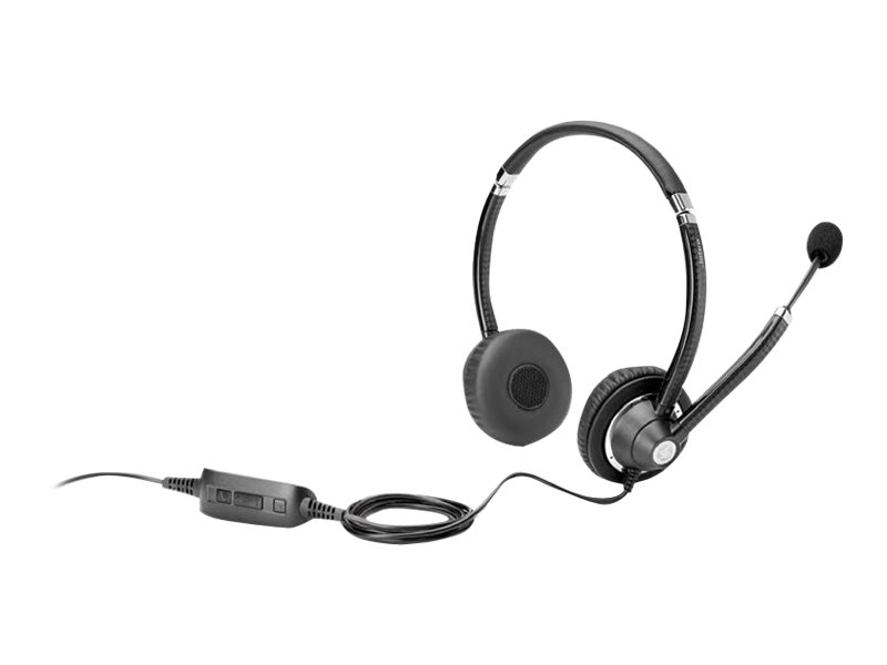 HP UC Wired Headset - Headset - On-Ear - verkabelt - für Elite x2; EliteBook; Pro x2; ProBook; Stream Pro 14 G3; x2; ZBook 17 G3, Studio G3