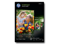 HP Everyday Photo Paper - Glossy - 8 mil - A4 (210 x 297 mm) - 200 g/m² - 25 sheet(s) photo paper - for Deskjet 2050 J510; Envy 100 D410; Officejet 6000 E609; PageWide MFP 377; PageWide Pro 452