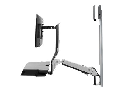Ergotron SV Combo System with Worksurface & Pan, Small CPU Holder