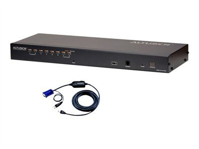 ATEN KH1508Ai KVM switch 8 x KVM port(s) 1 local user 1 IP user desktop, rack-mountable