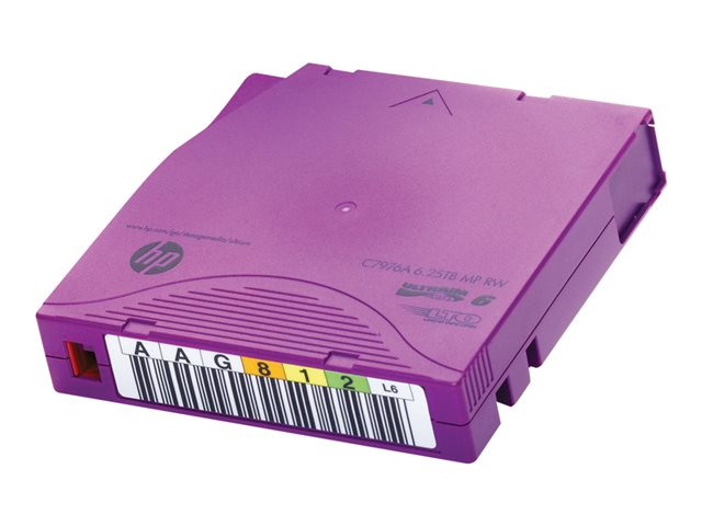 HPE RW Data Cartridge - 20 x LTO Ultrium 6 - 2.5 To / 6.25 To - étiquettes marquables - violet - pour StorageWorks SAS Rack-Mount Kit; StoreEver MSL2024, MSL4048, MSL8096; StoreEver 1/8 G2
