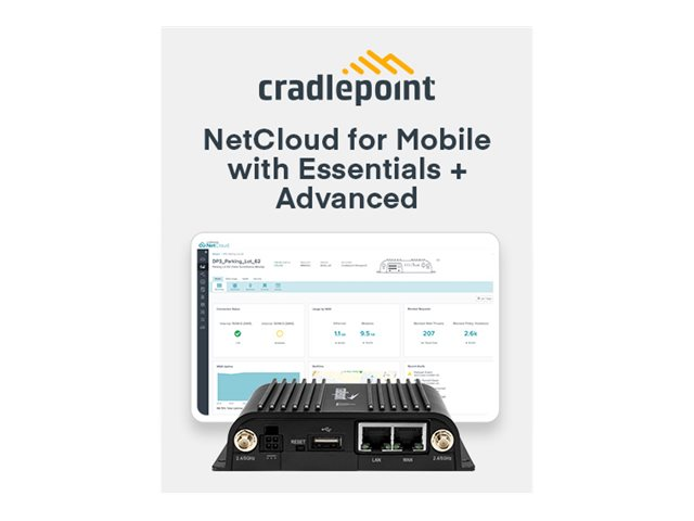 Cradlepoint NetCloud Essentials and Advanced for Mobile Routers FIPS - subscription license (5 years) - 1 license - wit…