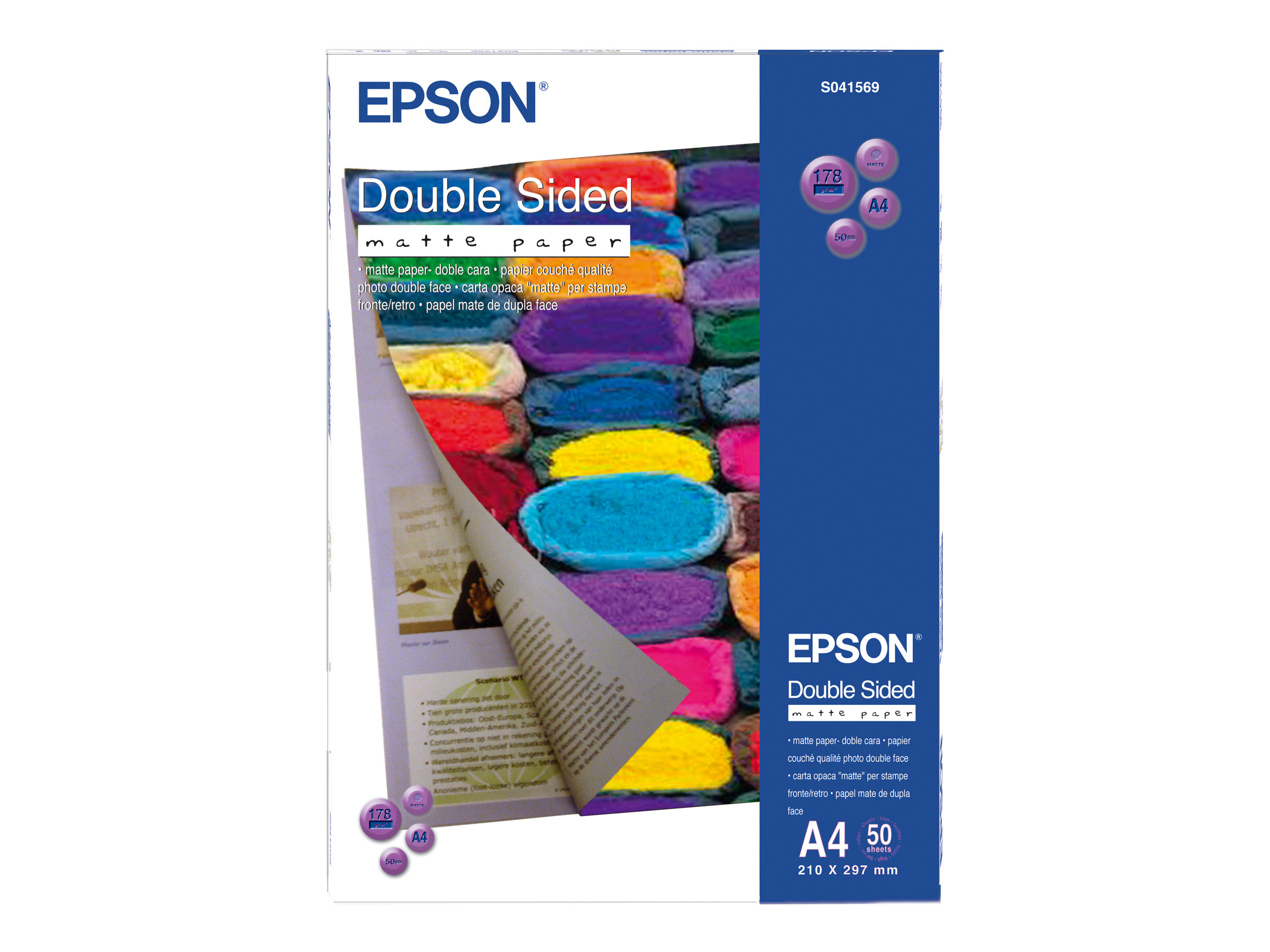 Papier photo Epson Double-Sided Matte Paper - papier - 50 feuille(s) - A4 - 178 g/m²