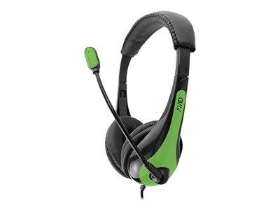 Avid AE-36 Headset on-ear wired 3.5 mm jack green