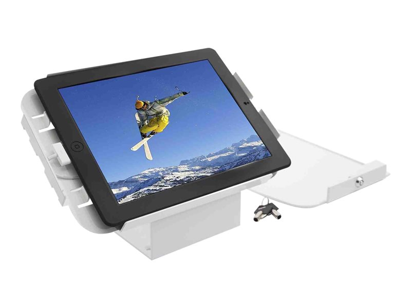 Compulocks Space 45° iPad Mini Wall Mount / Counter Top Kiosk White - montage mural