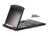 ATEN CL5816N KVM console with KVM switch 16 ports PS/2, USB 19INCH rack-mountable