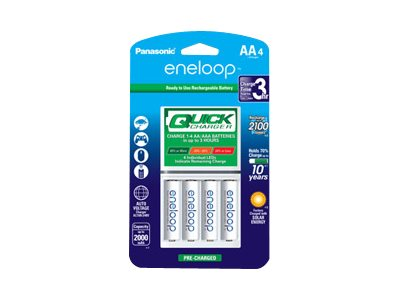 Panasonic eneloop Quick Charger K-KJ55MCA4BA battery charger - 4 x AA type - NiMH