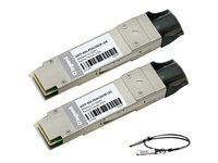 C2G 40GBase-CU direct attach cable QSFP+ to QSFP+ 1.6 ft twinaxial passive silver