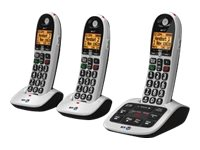Image of BT 4600 Advanced Nuisance Call Blocker Trio - cordless phone - answering system with caller ID + 2 additional handsets - 3-way call capability