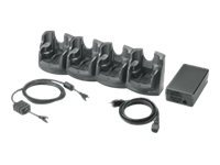 Zebra Four Slot Ethernet Charging Cradle Kit - Station d'accueil