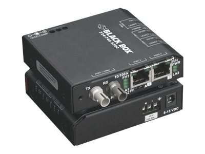 Black Box Hardened Media Converter Switch with IEC - switch