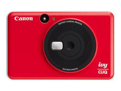 Canon ivy CLIQ Digital camera compact with photo printer 5.0 MP ladybug red image
