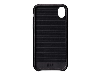 Sena Dean Leatherskin Snap On Back cover for cell phone full-grain leather black